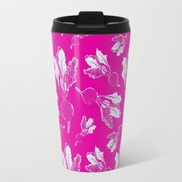 Feel the Beet in Magenta Rhubarb Stamp Travel Mug