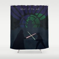 jedi Shower Curtains featuring Return of the Jedi by Adam Dens
