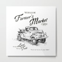 Farmer's Market Metal Print