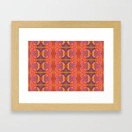 Vibrant pink and orange spirals Framed Art Print