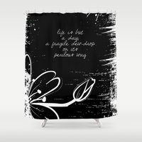poetry Shower Curtains featuring Keats Poetry by pennyprintables
