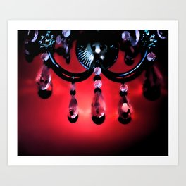 Red Crystals Art Print
