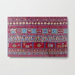 Tunisian Flatweave Antique Tribal Rug Print Metal Print