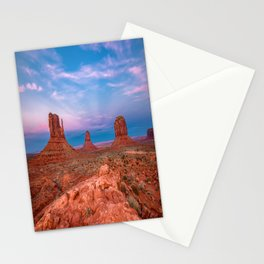 Westward Dreams - Sunset in Monument Valley Stationery Cards
