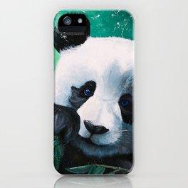 Panda - A little peckish - by LiliFlore iPhone Case