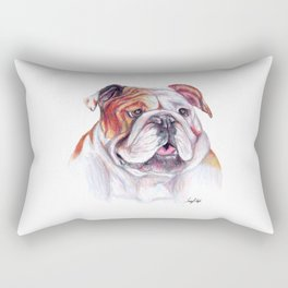 Bulldog - Dog Portrait Rectangular Pillow