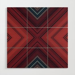 Red Floor Wood Wall Art