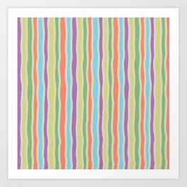 LYWALH Stripes Art Print