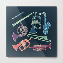 Wind instruments Metal Print
