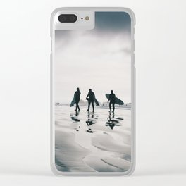 Tofino surfers Clear iPhone Case