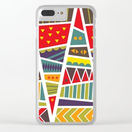 pyramids up and down Clear iPhone Case