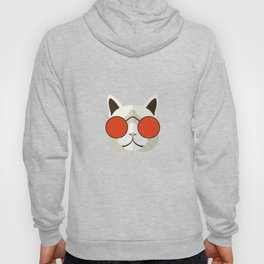 Funny Cat Icon With Glasses Hoody