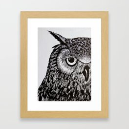 Black&White Owl Framed Art Print
