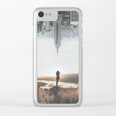 Between Earth & City Clear iPhone Case
