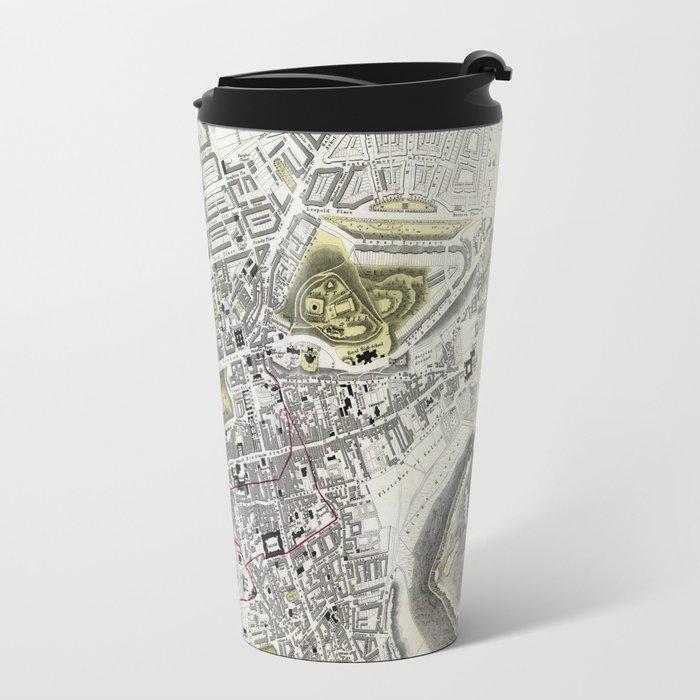 Plan of Edinburgh, Scotland - 1834 Travel Mug