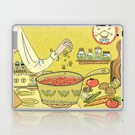 Time For Soup Laptop & iPad Skin
