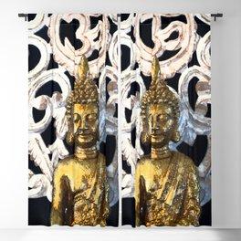 Gold Buddha Om Blackout Curtain