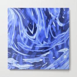 Floating In A Sea Of Blue Metal Print