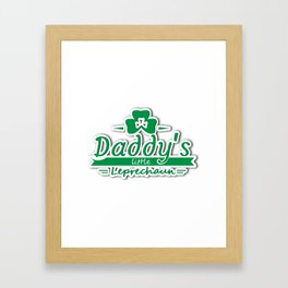 Daddy's Little Leprechaun St Patricks Day Kids Or Boy Framed Art Print