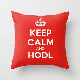 KEEP CALM AND HODL Throw Pillow