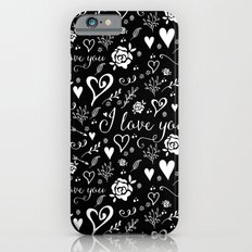 Black love iPhone 6s Slim Case