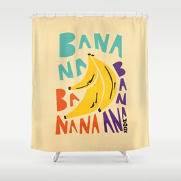 Banana Bananas Shower Curtain