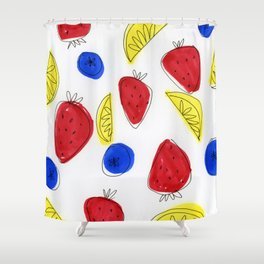 Mixed Fruit Shower Curtain