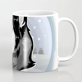 dog in snow Coffee Mug