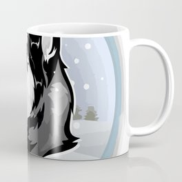 dog in snow Coffee Mug