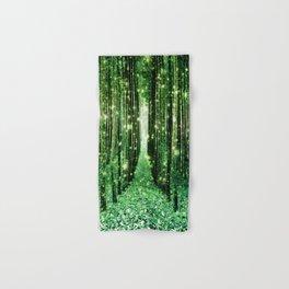 Magical Forest Green Elegance Hand & Bath Towel