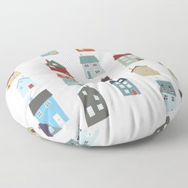 Little Houses Floor Pillow