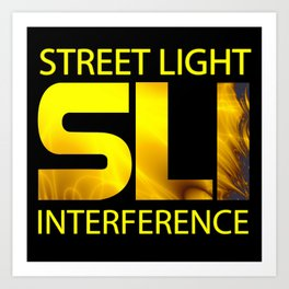 Street Light Interference Art Print