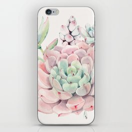 Perfect Pink Succulent iPhone Skin