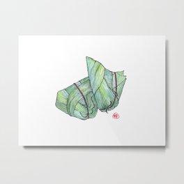 Zongzi Metal Print