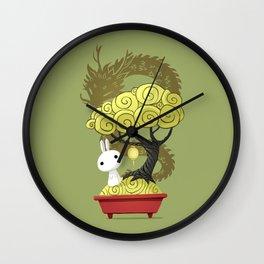 Bonsai Bunny Wall Clock