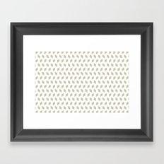 rhombus bomb in tidal foam Framed Art Print