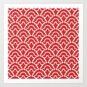 Fan Pattern Red 118 by tonymagner