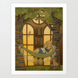 Reading Forest Art Print