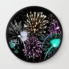 Bright firework texture Wall Clock