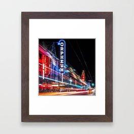 Granville Street Framed Art Print