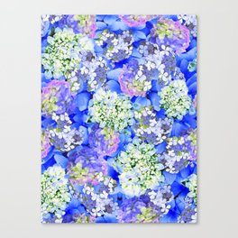 Billowing Blush in Blue Canvas Print