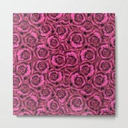 Pink roses. Pattern. Metal Print