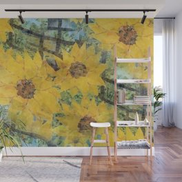 """Sunflowers In The Mist"" Wall Mural"