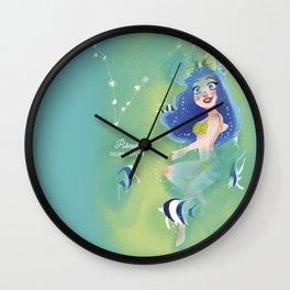 Milkyway Mousegirl - Pisces Wall Clock