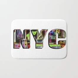 NYC (typography) Bath Mat