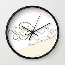 Typographic Christmas Sleigh Wall Clock