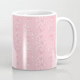 Baroque Flowers Pattern - Pink White Coffee Mug