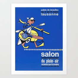 vintage Plakat salon international du plein air Art Print