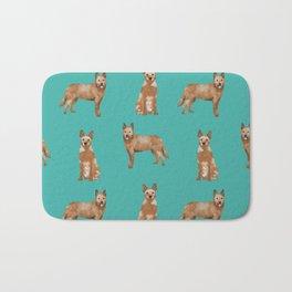 Australian Cattle Dog red heeler love dog breed gifts cattle dogs by pet friendly Bath Mat