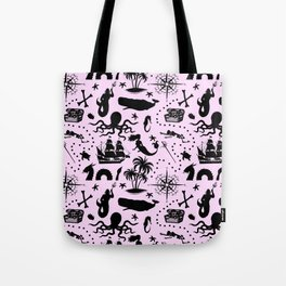 High Seas Adventure // Pink Tote Bag